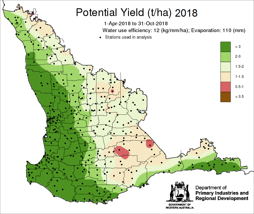 Potential yield map