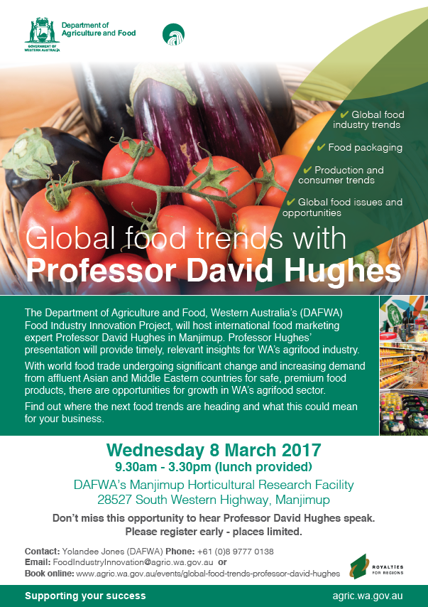 Global food trends with Professor David Hughes | Agriculture and Food
