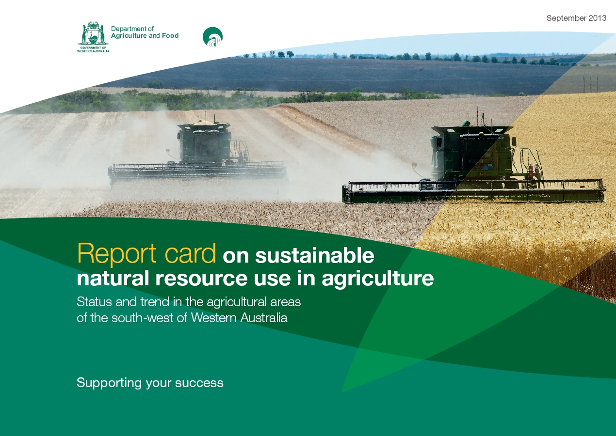 Report card on sustainable natural resource use in for Natural resources soil uses