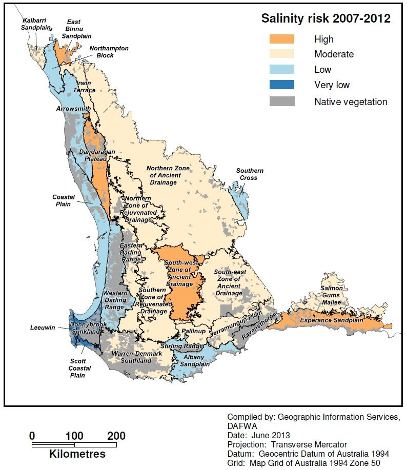 Map Grid Of Australia Zone 50.Salinity Risk Mapping For Carbon Farming Agriculture And Food