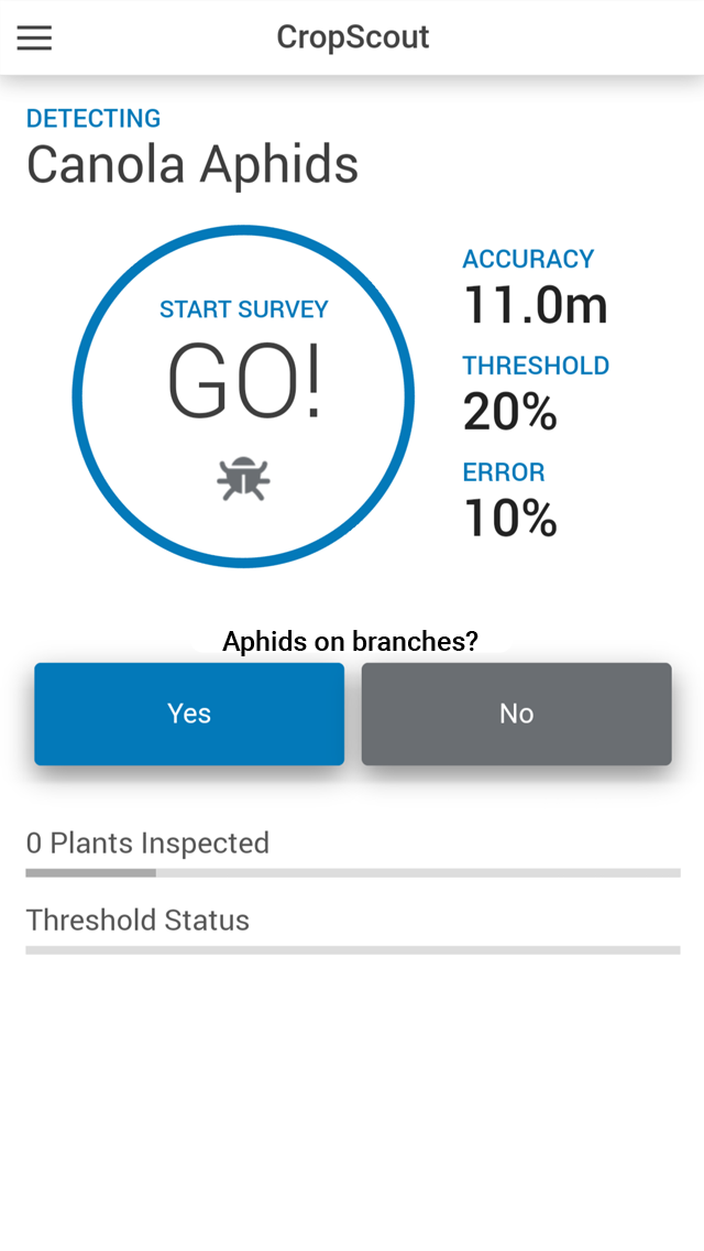 Screenshot CropScout App