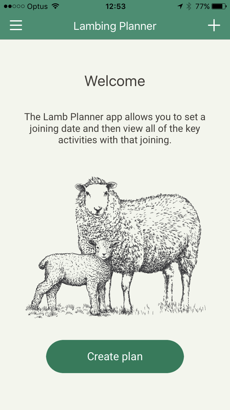 Lamb planner screenshot