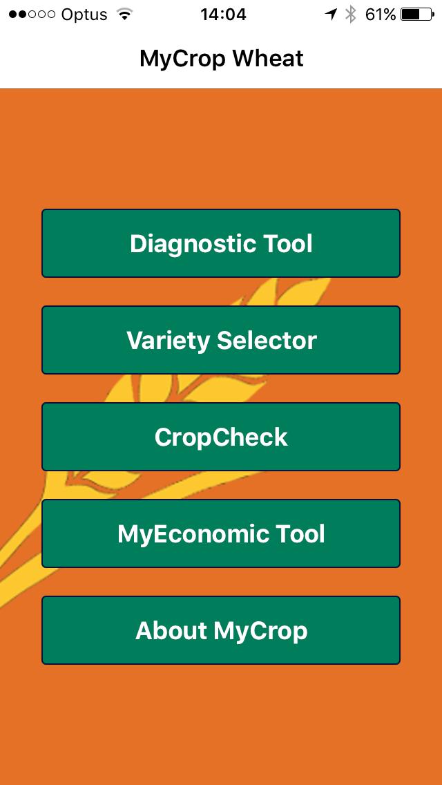 MyCrop Wheat Screenshot