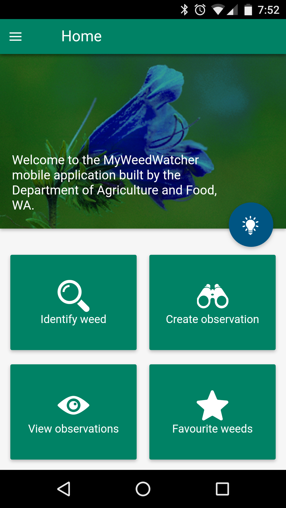 MyWeedWatcher android app mobile snapshot