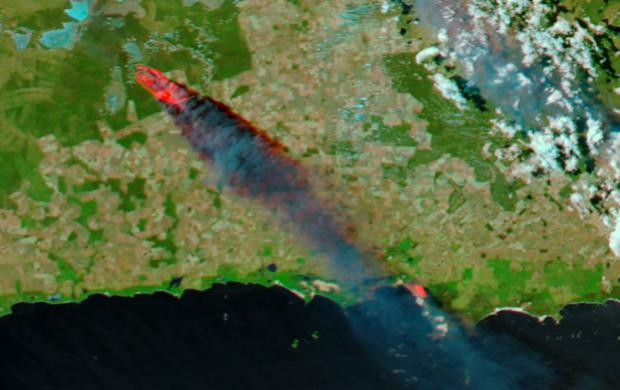 fire satellite image