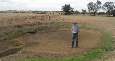This silt trap has worked well. This material would otherwise be polluting the dam.