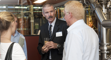 Photo showing the launch of the new pilot malting facility in Perth, Western Australia