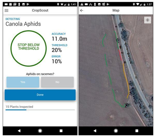 Crop Scout mobile app