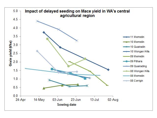 The impact of delayed seeding on yield potential