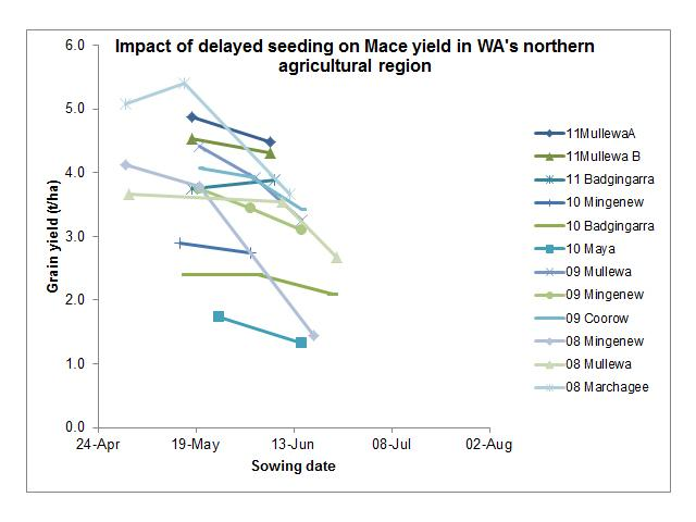 Impact of delayed seeding on yield potential