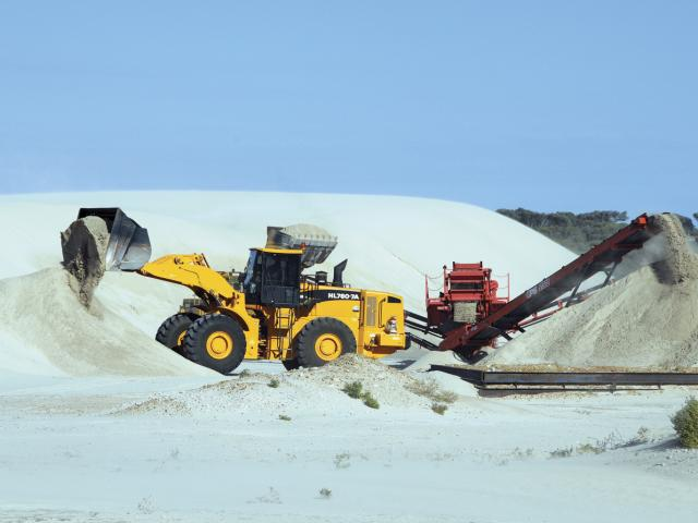 Mining limesand at Greenhead. Limesand, limestone and dolomitic lime are natural mined products.