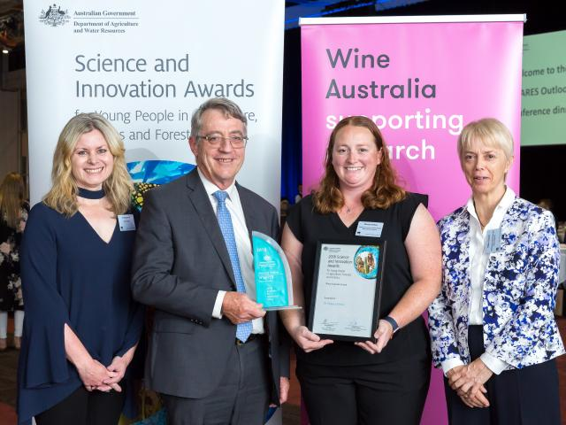 Monica Kehoe receives the 2018 Science and Innovation award