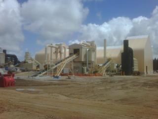 Picture of the pelletiser plant near Albany Western australia run by Plantation Energy Australia