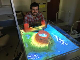 The augmented reality sandbox, developed by the department's Nick Wright, is sure to be a hit at this year's Perth Royal Show.