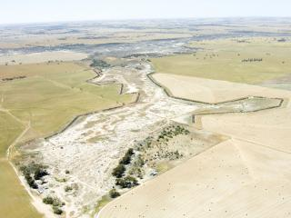 Aerial photos 'before' (2006) and 'after' (2020) images of salt-affected country