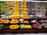 Display of fresh produce in Chinese supermarket