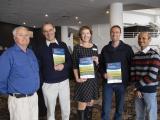L:R DPIRD Canola Agronomy Researchers Mark Seymour, Bob French, Jackie Bucat, Marty Harries and Salzar Rhaman