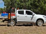 Ute mounted Terrier soil sampler.