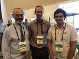 A photo of DPIRD Researchers Bob French, Dion Nicol and Jeremy Curry