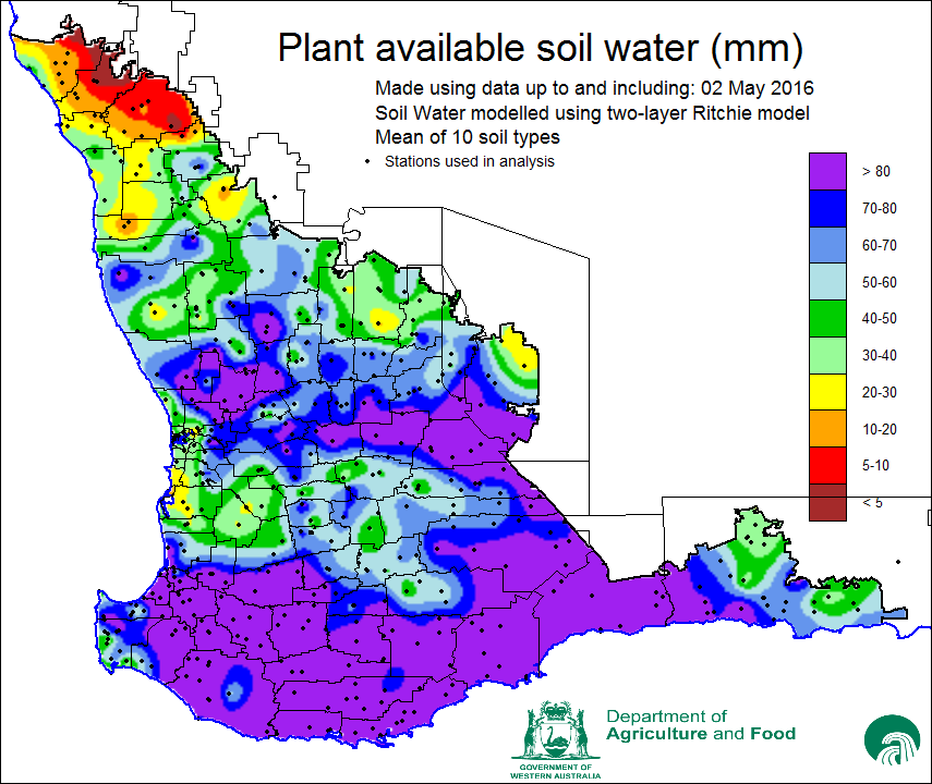 Seasonal climate outlook may 2016 department of for Soil 4 climate