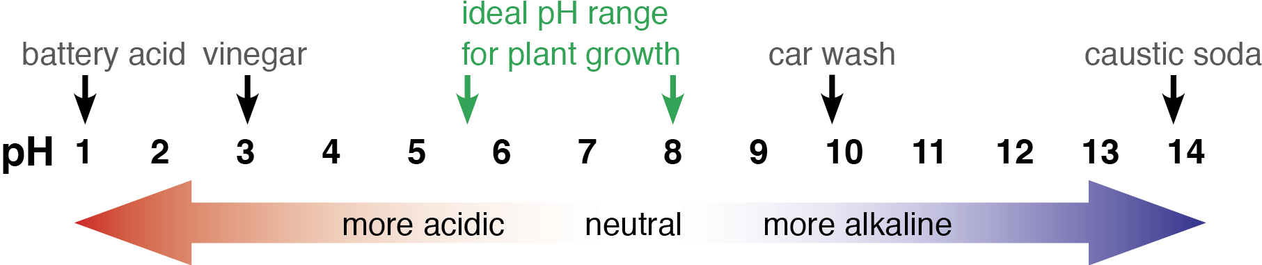 Soil ph agriculture and food for What substances are in soil