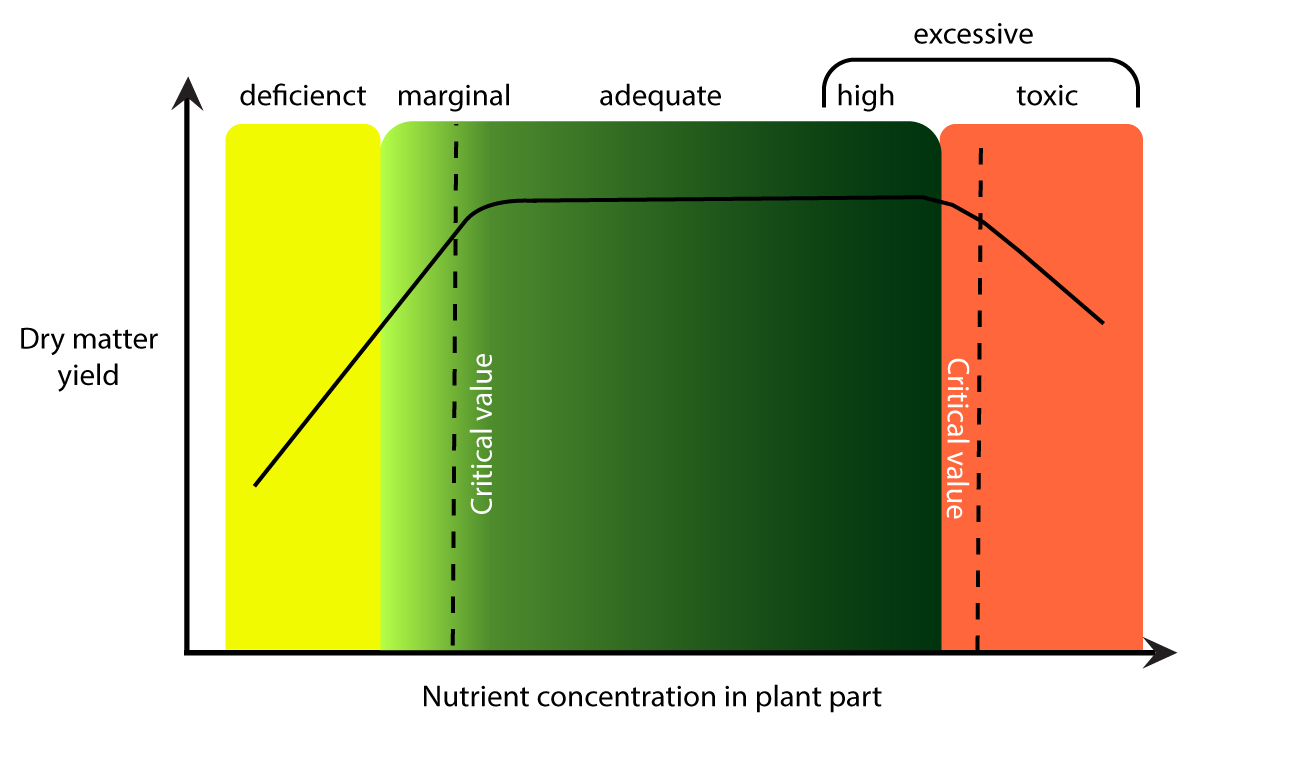 Critical tissue nitrogen concentrations for diagnosis of