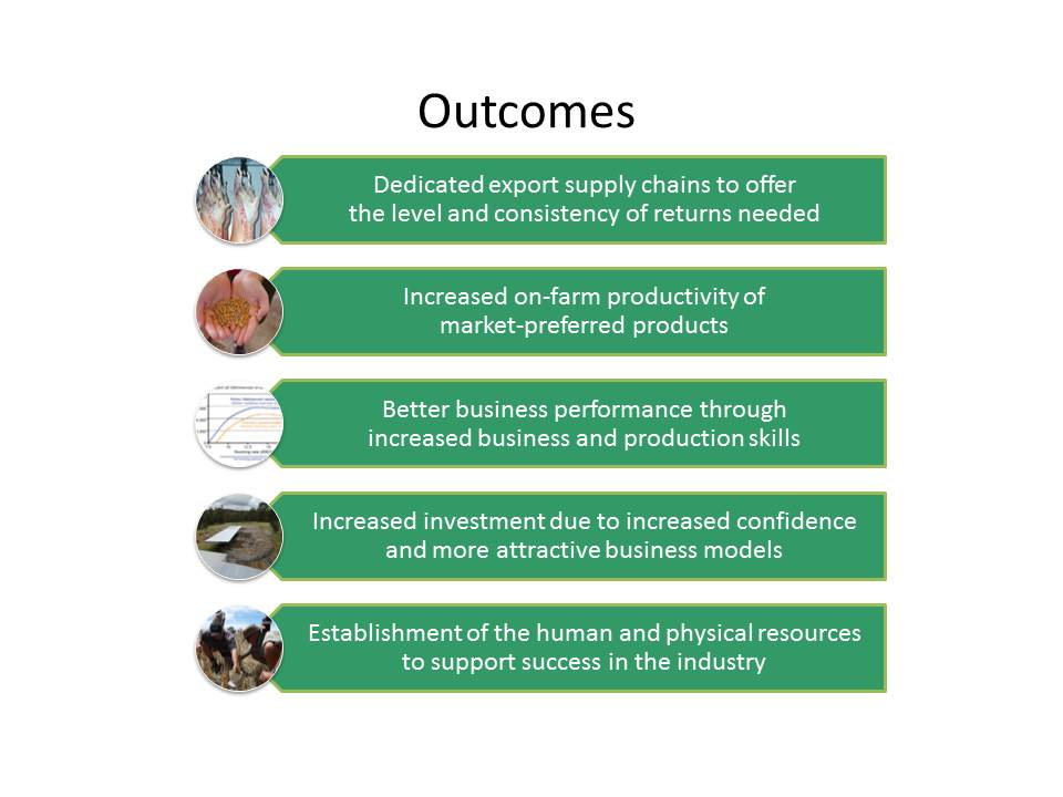 outcomes for the project
