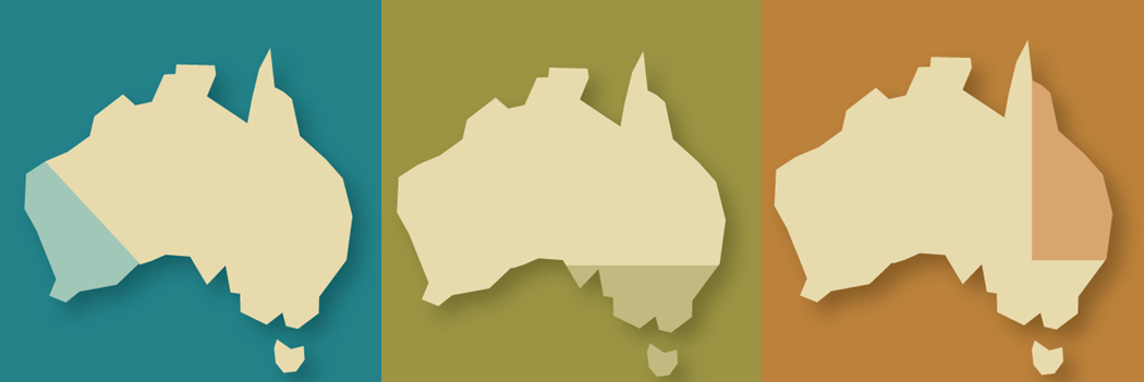 Map of Australia showing the 3 GRDC regions