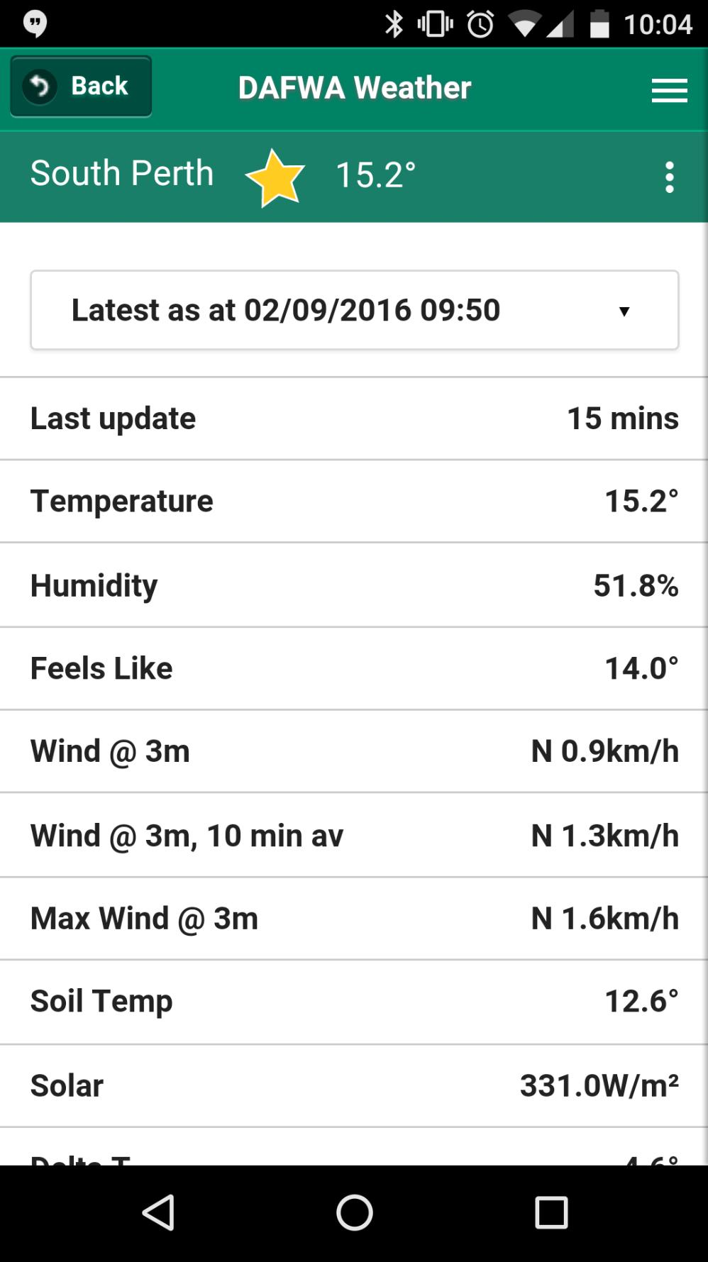 DAFWA Weather App