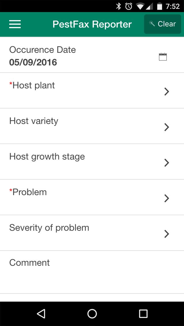 PestFax App screenshot