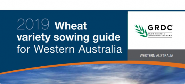 The front cover of the wheat variety guide