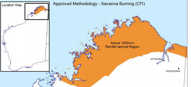 Above 1000mm rainfall isohyet region_approved savanna burning methodology
