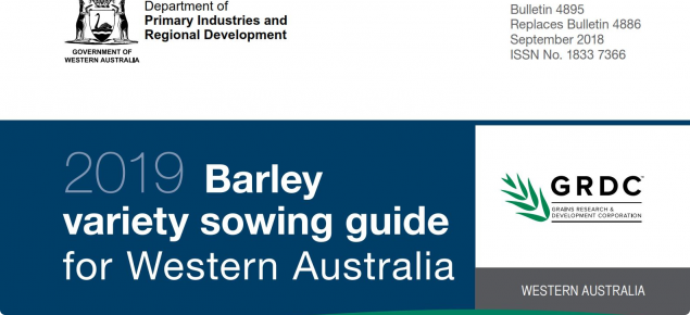 Barley variety Guide 2019 cover page