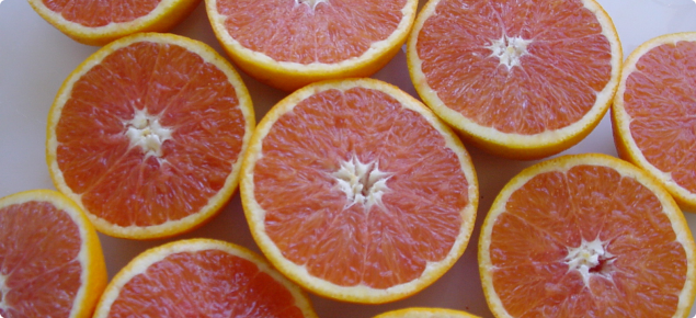 Cara Cara is a mid-season navel orange with deeply coloured flesh similar to Star Ruby grapefruit