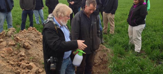 chris gazey in a soil pit