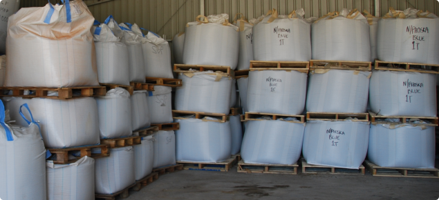 Fertiliser storage