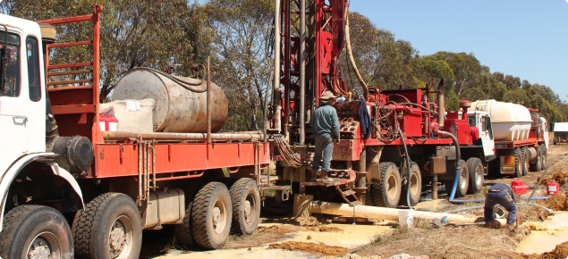 Drilling on production bore site Shane Kaelly's property