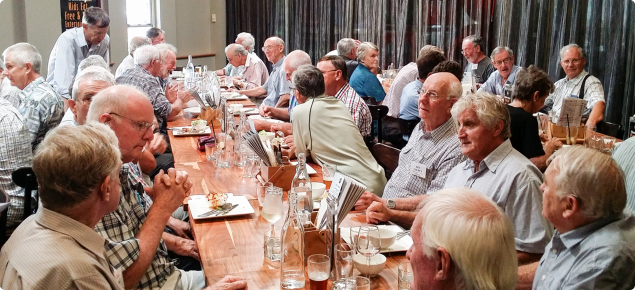Former DAFWA staff members enjoying lunch at the Herdsman's Lake Tavern