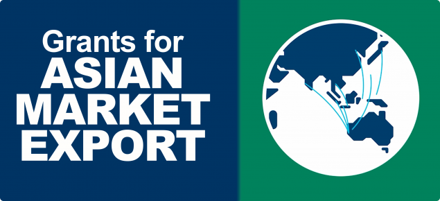 graphic with text - Grants for Asian Market Export