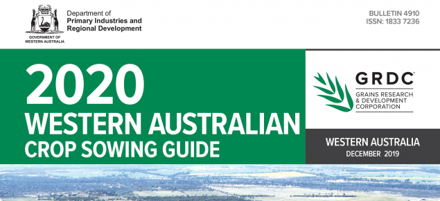 Cover page of the 2020 WA Crop Sowing Guide