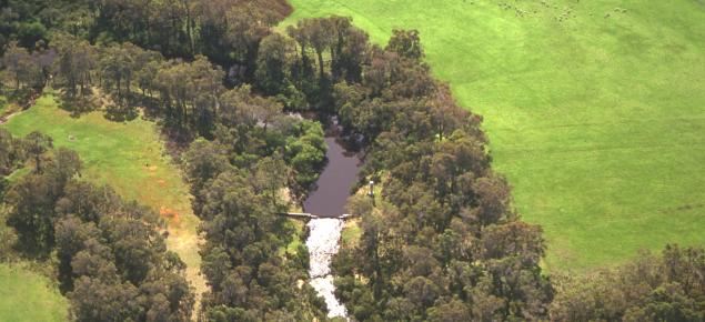 Kalgan River gauging station from the air