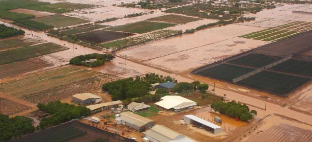 Gascoyne river flood Carnarvon 2010