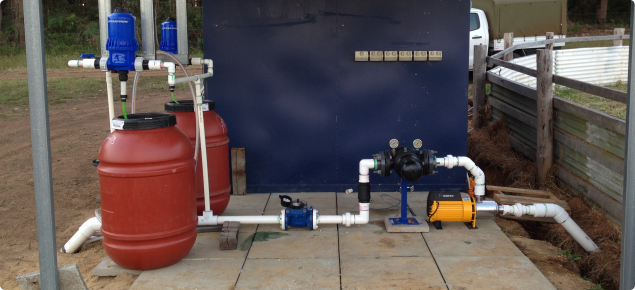 Example of a two tank fertigation system.