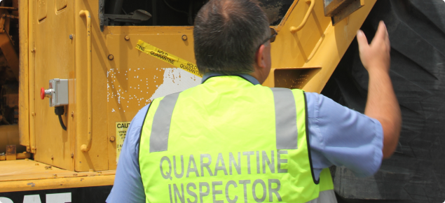 Thorough inspection of used machinery entering WA is carried out by Quarantine WA