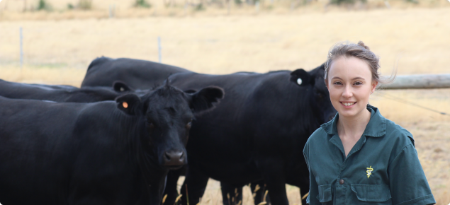 Dr Kristine Rayner with cattle