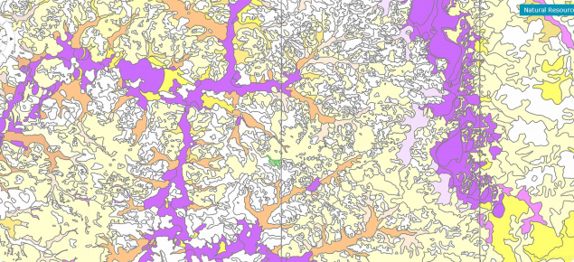 Saline land and salinisation risk map from NRInfo