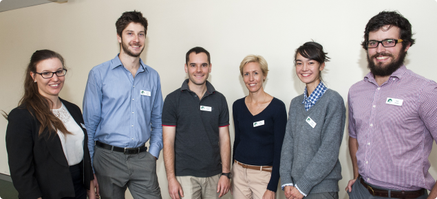 Six young staff members who recently completed DAFWA's Graduate program.
