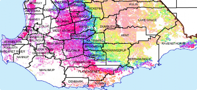 Pasture growth rate map image