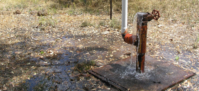 Photograph of an artesian bore on an aquifer