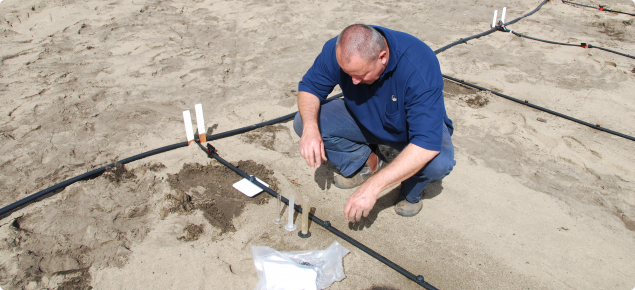 Measuring the output of a drip irrigation line